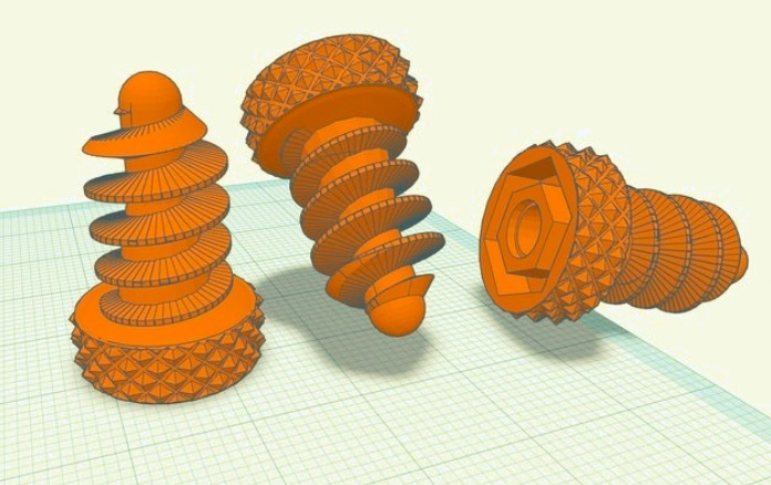 Knurled Grippy Cardboard Screw v4 Makedo Technic Pin Compatible by jendenuvaden Thingiverse
