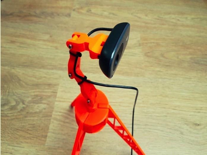 Logitech C270 camera holder on tripod adapter by HD Creator Thingiverse
