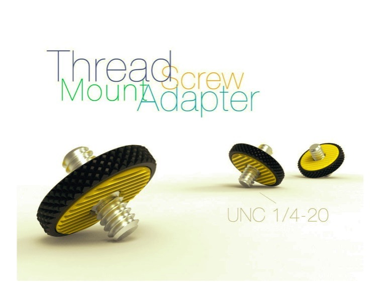 Thread Screw Mount Adapter UNC 1 4 20 by Perinski Thingiverse