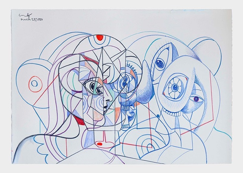 Georges condo hauser wirth online exhibition designboom 02