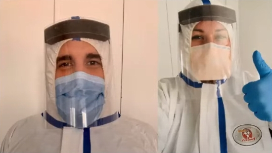 Doctors using Adafruit PPE