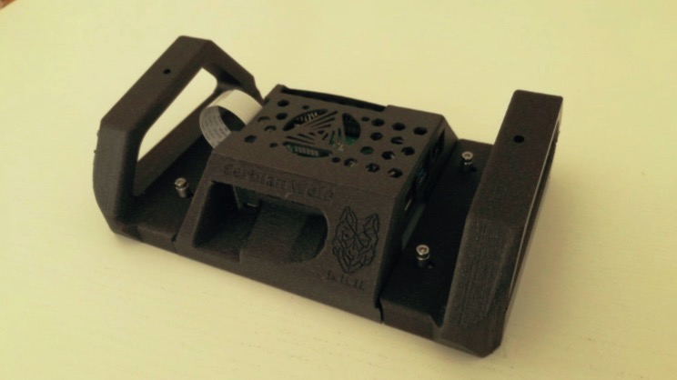 Raspberry pi 4 7 Touchscreen Stand Middle Part by 3opaH Thingiverse