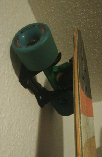 Longboard wall mount by 3DAx Thingiverse