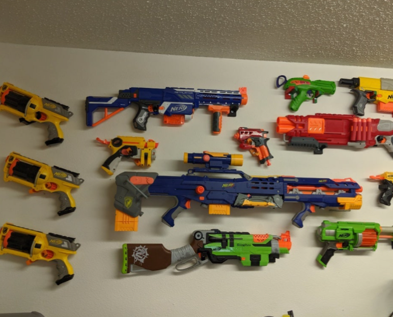 Mounted Display Hooks Tools Nerf Guns by Pixel2Plastic Thingiverse