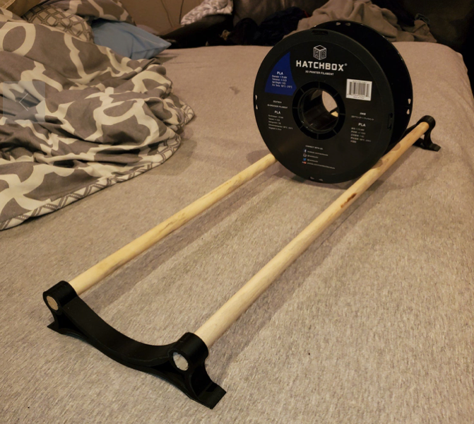 Spool rack by lineage404 Thingiverse