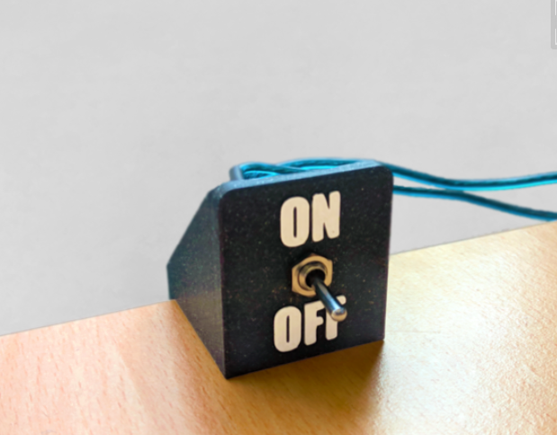 Toggle Switch Desk Edge Mount by The3Designer Thingiverse