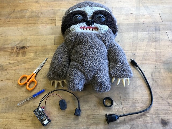 MP3 Playback in CircuitPython with Lars the Sloth Puppet