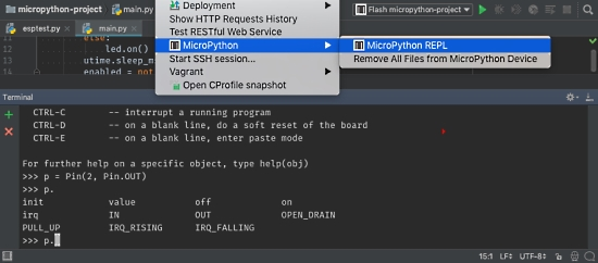 MicroPython plugin 1.1 for PyCharm