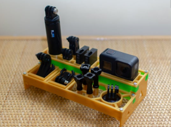 Gopro Hero 8 Organizer by tirramas Thingiverse