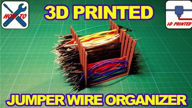 Breadboard Jumper Wire Organizer Stringing Test by Urzas creations Thingiverse