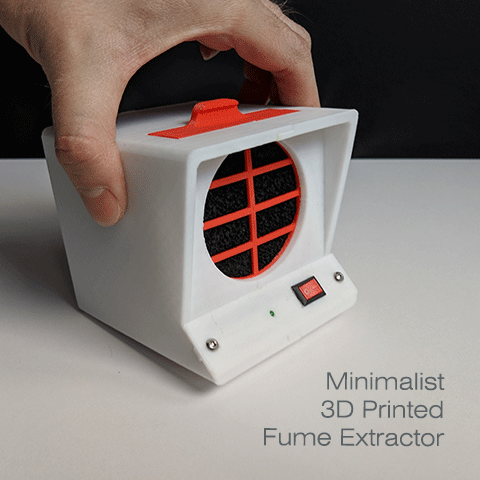 Minimalist 3d printed solder fume extractor