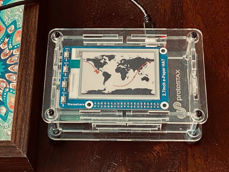 Here's a fun project that uses an ePaper Display in concert with a Raspberry Pi to make a visual home tracker for the International Space Station. H