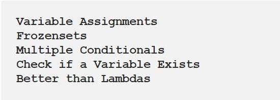 Five Python Features