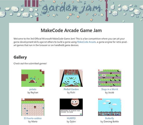 3rd MakeCode Game Jam