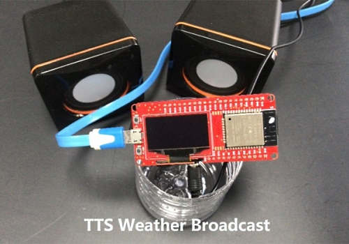MicroPython Text-to-speech Weather Broadcast