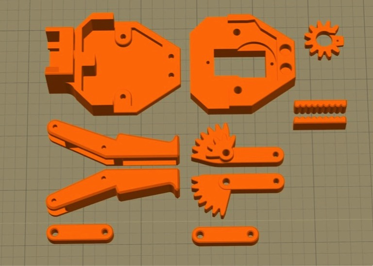 Parallel Gripper for EEZYbotARM MK2 by sthone Thingiverse