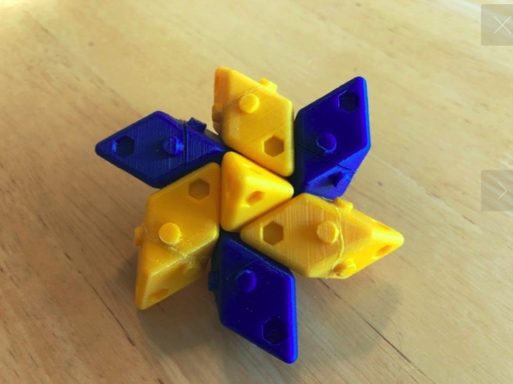 Parallelepiped Lego by DaveMakesStuff Thingiverse