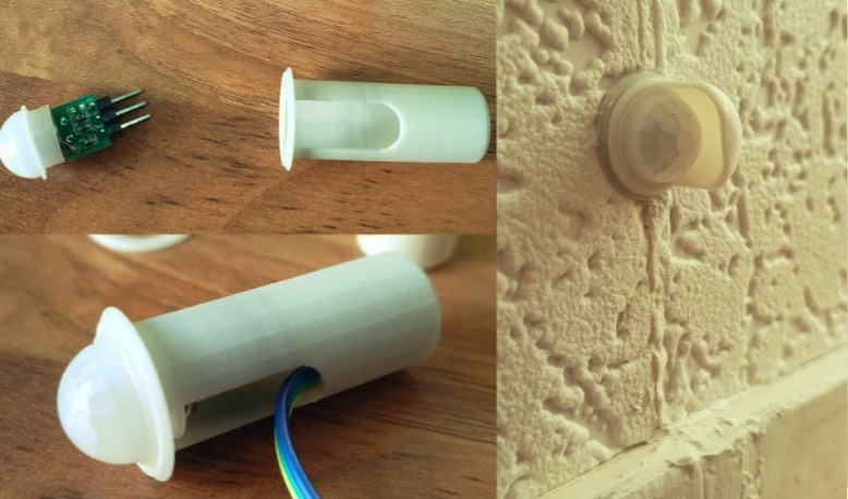 Mini PIR recessed holder by RDL design Thingiverse