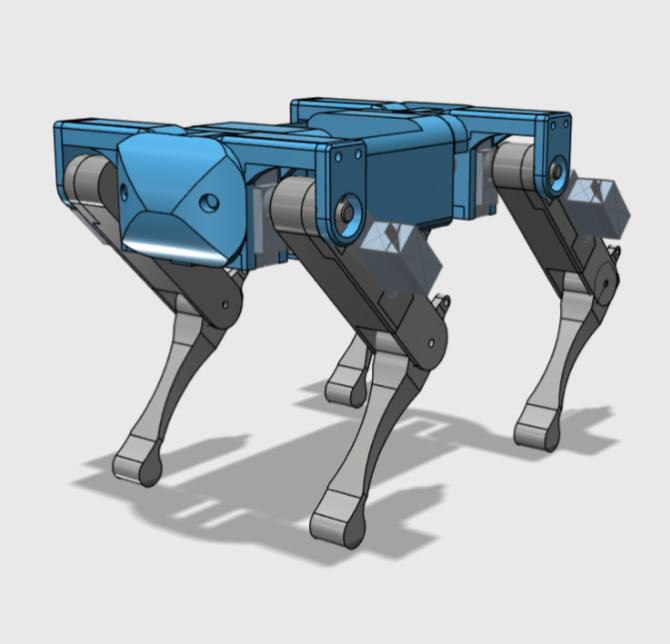 Mini Quadruped Robot For SG90 Servos by Akagan Thingiverse
