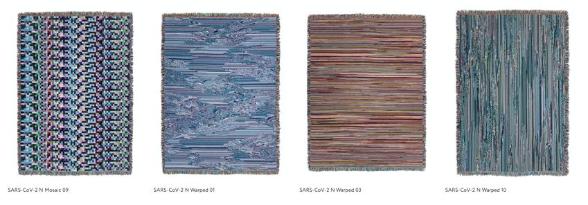 SARS CoV 2 Glitch Textiles