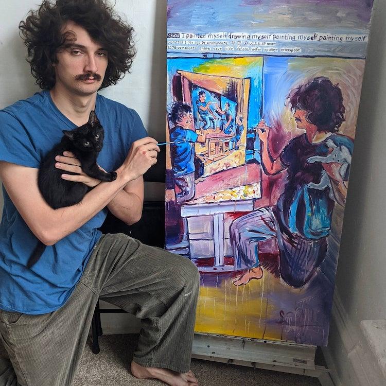 Seamus wray self portrait painting 1
