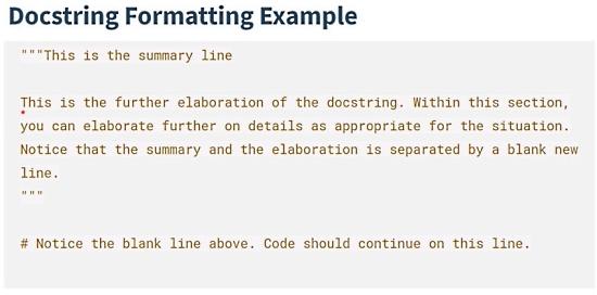Documenting Python Code