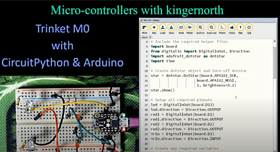 Trinket M0 with CircuitPython and Arduino