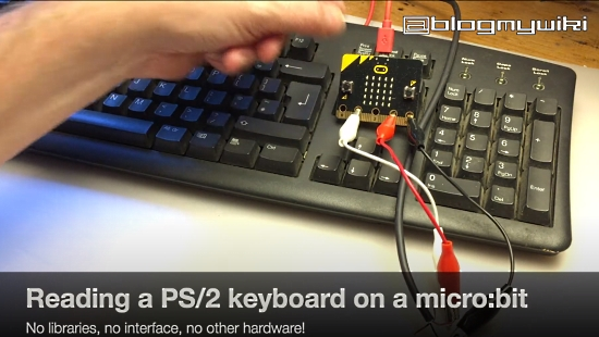 Reading a PS/2 Keyboard with a micro:bit