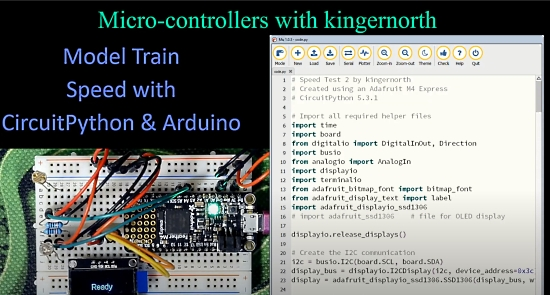 Model Train Speed with CircuitPython