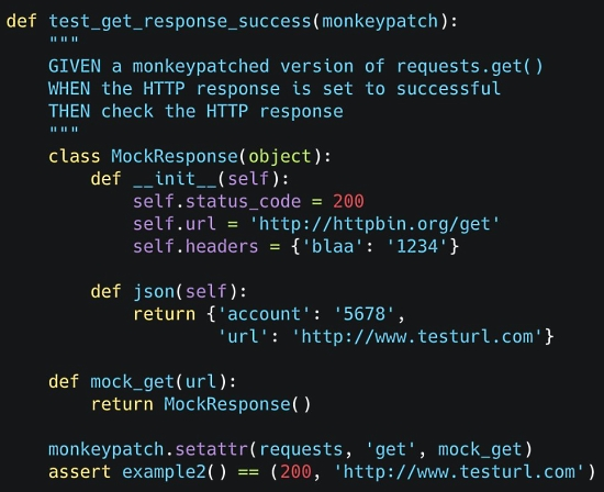 Monkeypatching with pytest