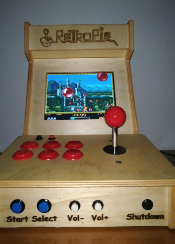 Another Mini Arcade Bartop RetroPie by nasp2000 Thingiverse