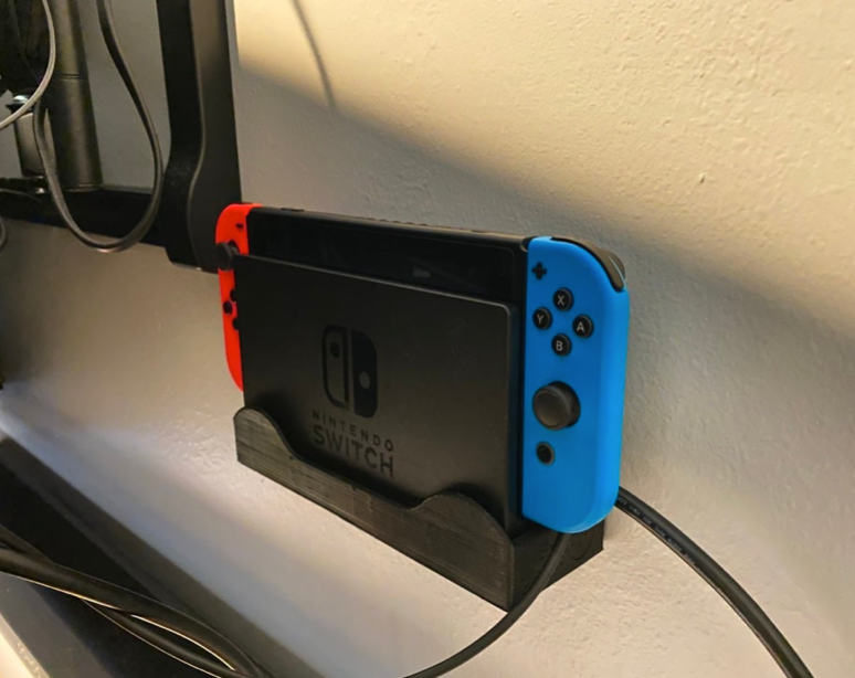 Nintendo Switch Slim Wall Mount by tinyplanet Thingiverse