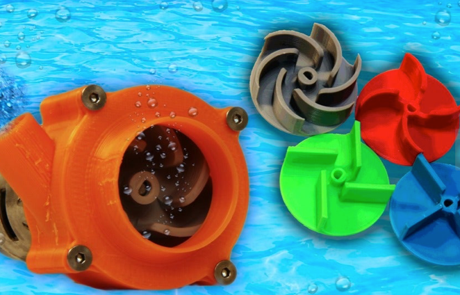 Water Pump With 4 Different Turbines TESTING AND BUILDING VIDEO by LetsPrintYT Thingiverse