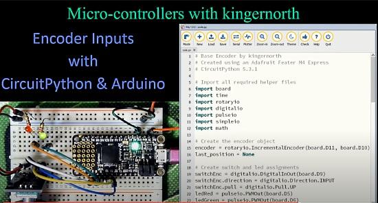 Encoder Inputs with CircuitPython & Arduino