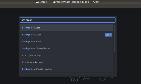 Create an Awesome Development Setup for Data Science using Atom