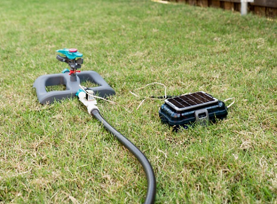 Solar Powered Internet Connected Lawn Sprinkler