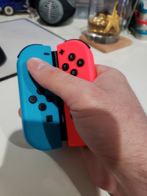 Casual One Handed Joycon Nintendo Switch controller by blake1036 Thingiverse