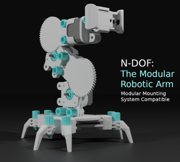 N DOF The Modular Robotic Arm by Keeeal Thingiverse