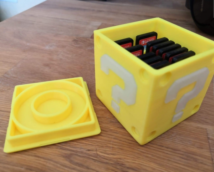 Question Block Switch Cartridge Case by Pillar817 Thingiverse