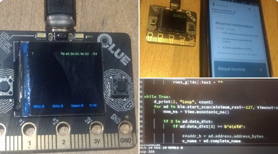 Counting nearby cell phones with CLUE and CircuitPython