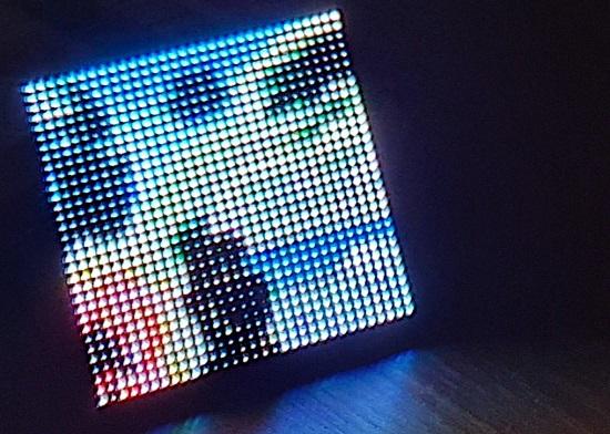 Art on a 32x32 display