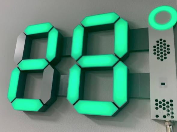 Big 7 Segment Custom display by marigu Thingiverse