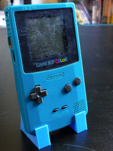 Game Boy Color Display Stand by the16bitgamer Thingiverse