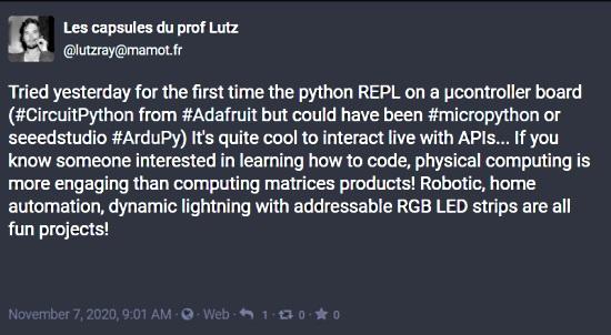 Tried CircuitPython