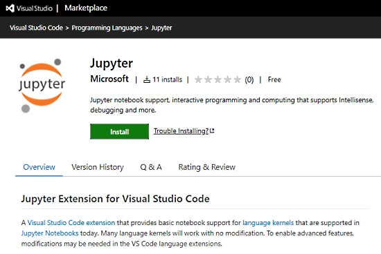 Jupyter Extension for VS Code