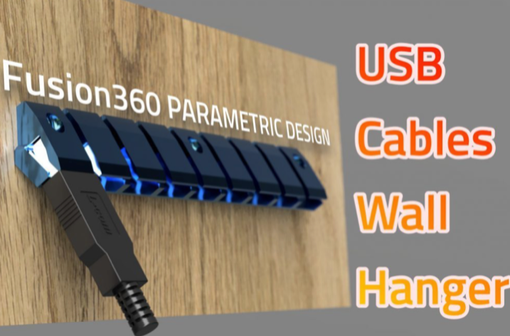 3Dprinted USB Cables Hanger by theveel com Thingiverse