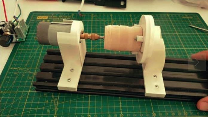 DIY Mini Wood Lathe by onratak Thingiverse