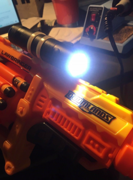 Nerf Light Mount by BP 685 Thingiverse