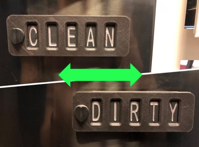 Sliding Word Changing Dishwasher Sign by MiddleFingerBoss Thingiverse