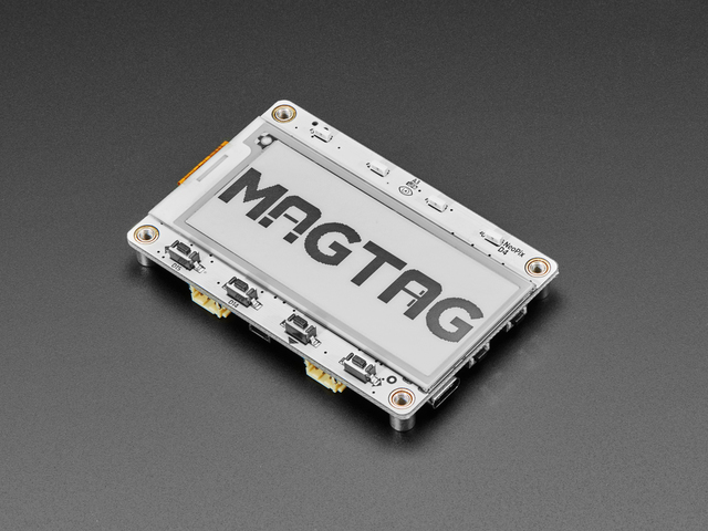 Adafruit products MagTag top angle